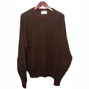 British Wool Lord Jeff Brown Wool Sweater Size XL